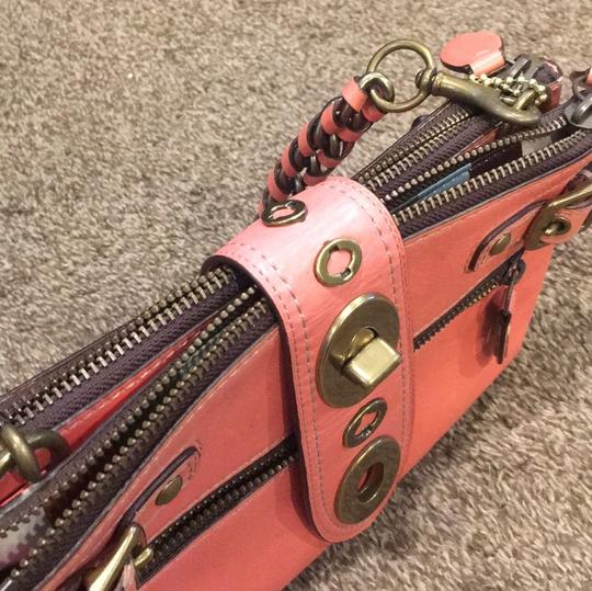 Coach Satchel in Coral Image 1