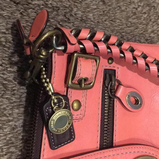 Coach Satchel in Coral Image 3