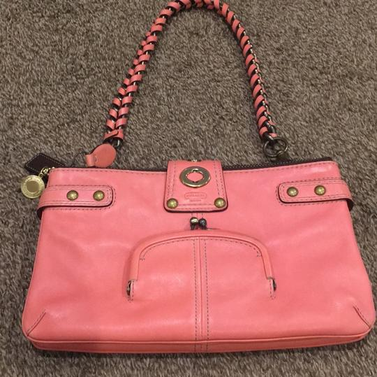 Coach Satchel in Coral Image 7
