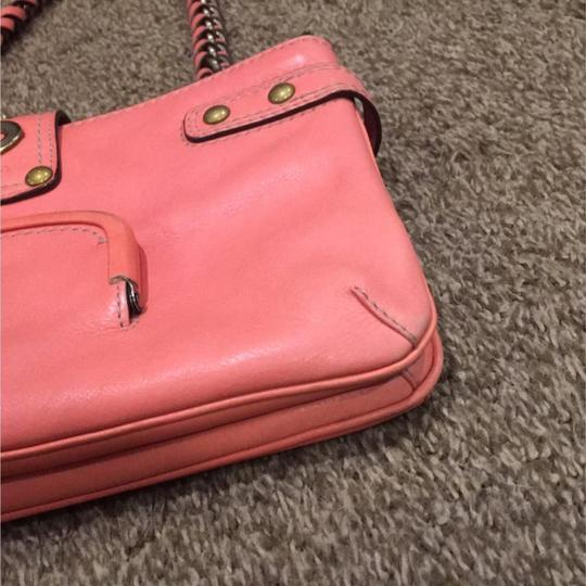 Coach Satchel in Coral Image 8