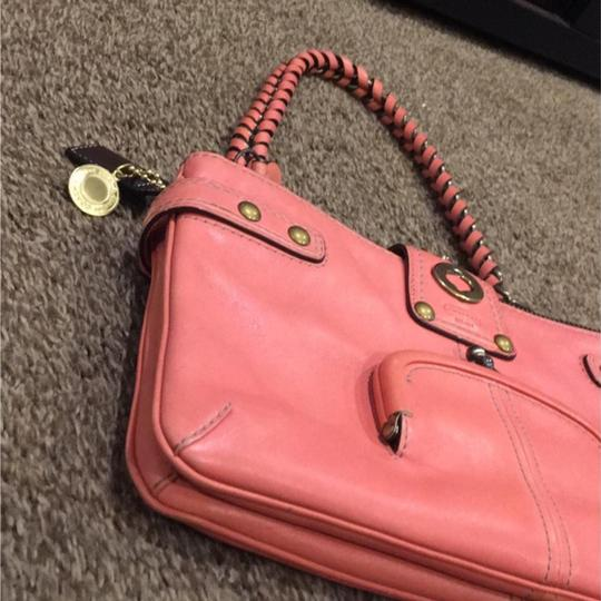 Coach Satchel in Coral Image 9