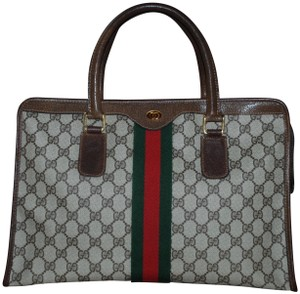 3cdffc80af5b Gucci Made In Italy Vintage Monogram Web Tote in Brown