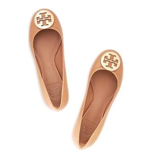 Tory Burch Leather Tan Flats