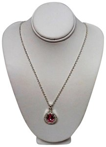 "Avon Avon 18"" Silver and Pink Gift Necklace"