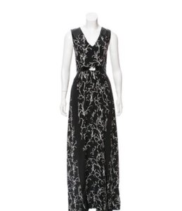 Black Maxi Dress by Tanya Taylor Maxi Faux Leather Silk Comfortable Night Out