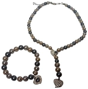 Avon Avon Pearlesque Y Lariat Faux Pearl Necklace and Bracelet Gift Set