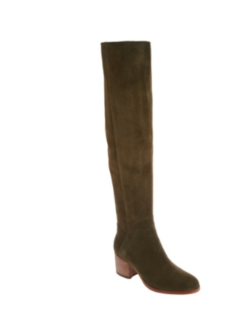 Item - Olive Medium Calf Suede Over-the-knee Boots/Booties Size US 8.5 Wide (C, D)