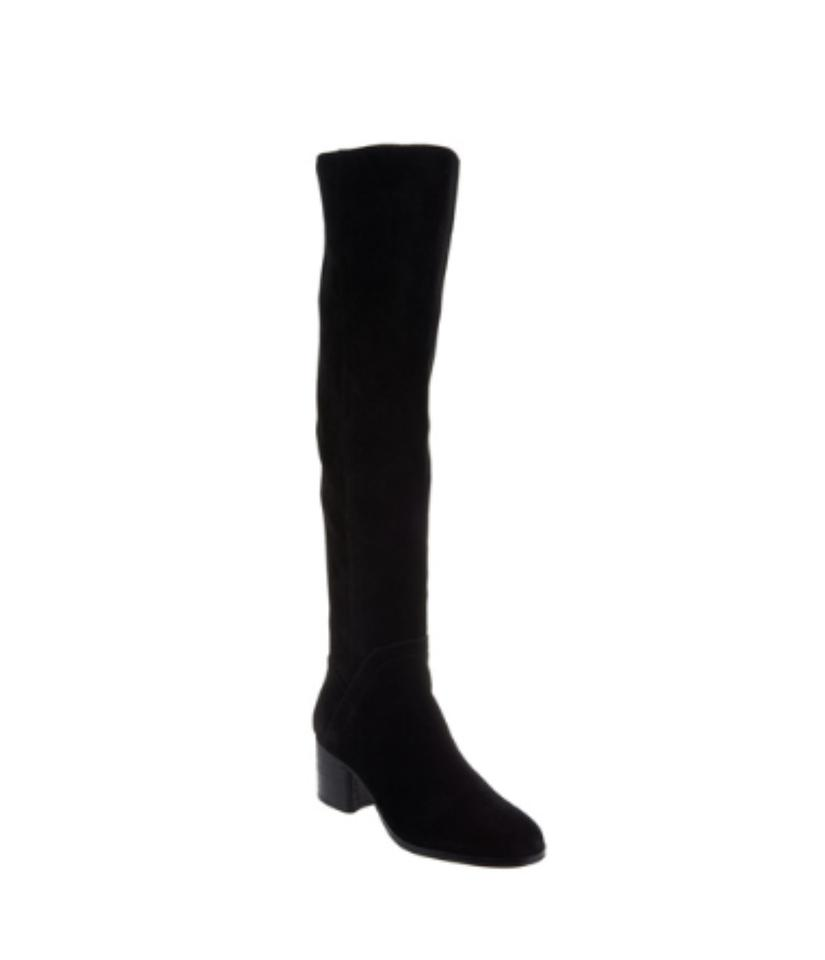 55183561f1e0 Marc Fisher Black Wide Calf Suede Over-the-knee Boots Booties Size ...