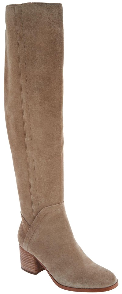 0b951fc17ff6 Marc Fisher Brown Wide Calf Suede Over-the-knee Boots Booties Size ...