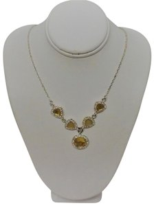 Avon Avon Yellow and Silver Necklace