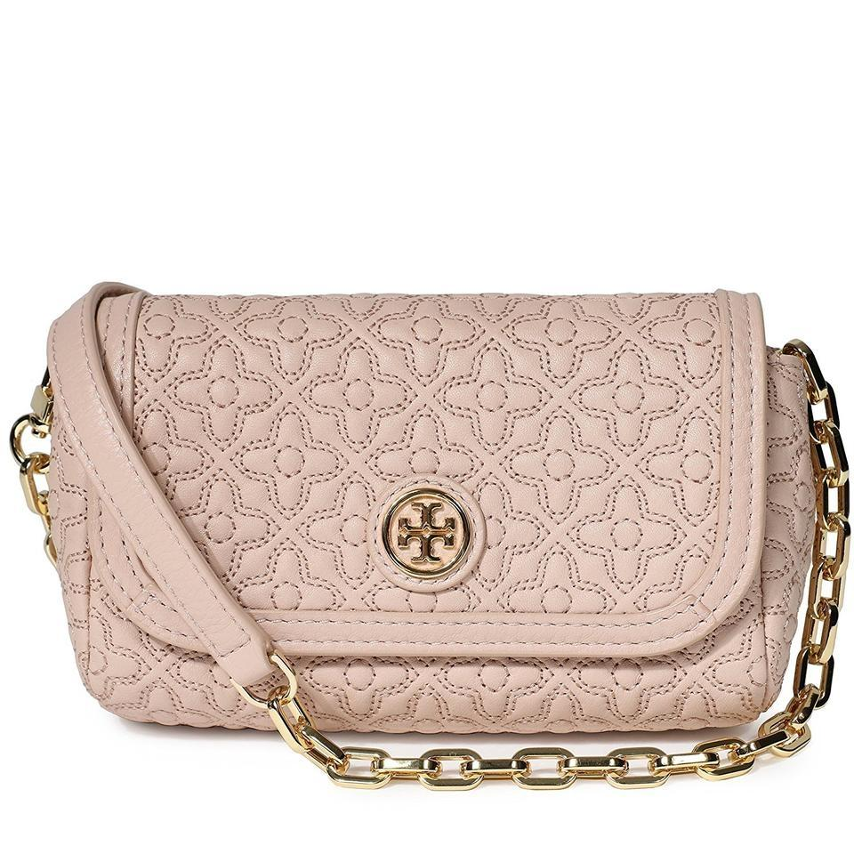 Tory Burch Bryant Cute Small Hand Light Oak Blush Quilted