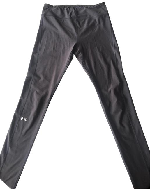"Item - Phantom Gray/Metallic Silver Women's Ua Heatgear Color Block Legging 29"" Pants Size 4 (S, 27)"