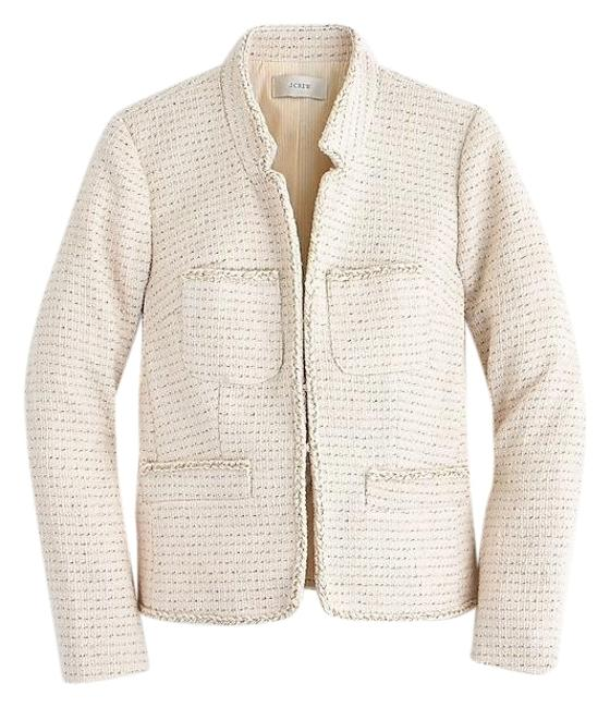 Item - Ivory Metallic Tweed Jacket Size 8 (M)
