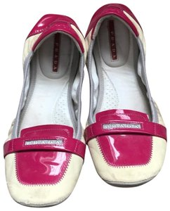 Prada Ballerina Leather cream, pink Flats