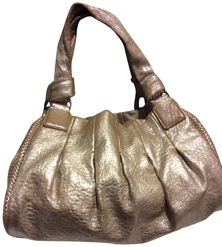 0b4f82e395 Cole Haan Pebbled Rose Gold Leather Satchel - Tradesy