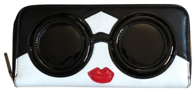 Item - Black and White with Red Lips Staceface Leather Wallet