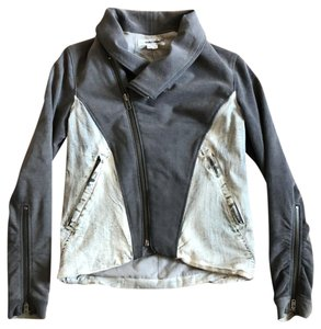 Helmut Lang grey/white denim Womens Jean Jacket