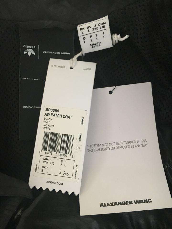 Adidas Originals By Alexander Wang Black And White Coat Size 12 L