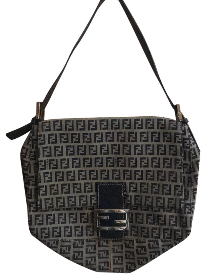 b591176015 Fendi Vintage Monogram Baguette Blue Multi Mixed Shoulder Bag - Tradesy