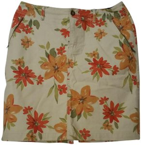 Eddie Bauer Skirt natural, orange, red, green