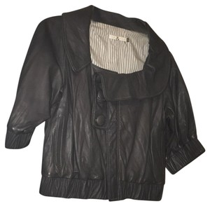Mike & Chris gray Leather Jacket