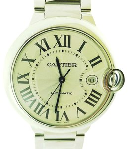 Cartier Ballon Bleu Cartier Steel Silver Dial 42mm Watch New with PAPER & BOX
