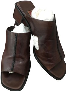 Cole Haan Brown Belting leather Mules