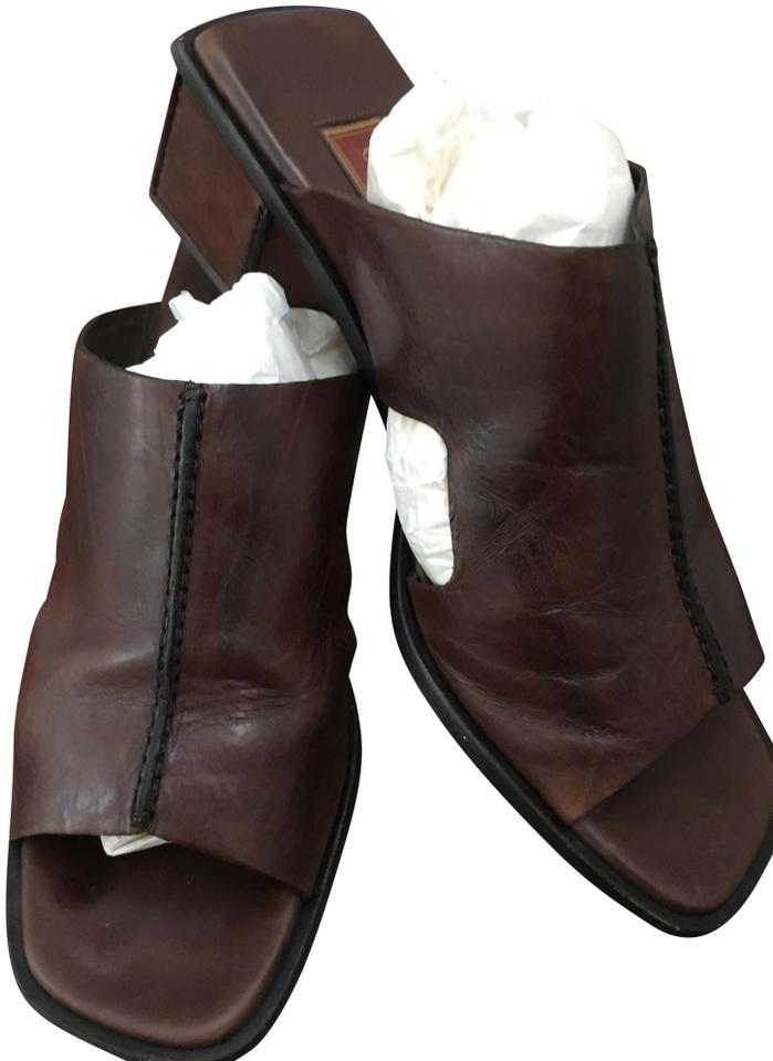 Brown Haan Slides Mules Cole Belting Leather B 105WfwwOq
