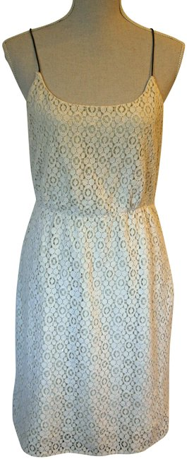 Item - Cream Lace Mid-length Night Out Dress Size 8 (M)