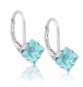 9.2.5 Gorgeous aquamarine square drop earrings