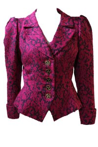 Saint Laurent Fuschia Navy Blazer