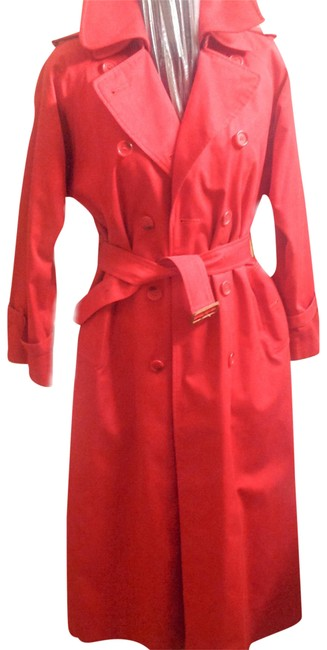 Item - Red Nova Check Lined with Extra Collar and Lining Coat Size 6 (S)