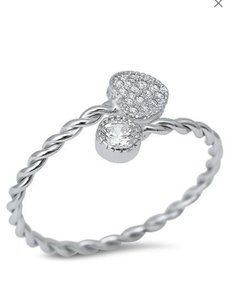 9.2.5 Adorable braided band heart and circle ring 6