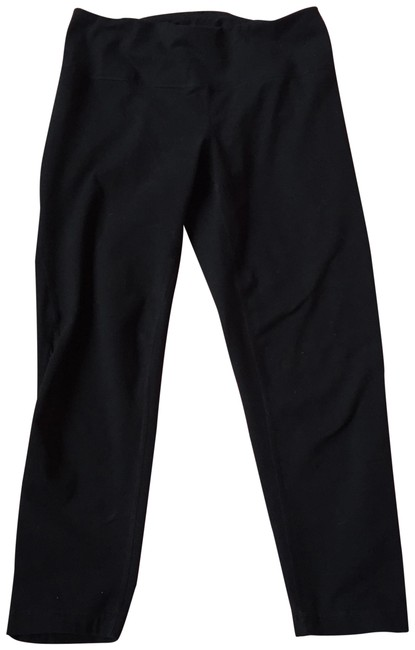 Item - Black XS Cropped Leggings with Shear Panel Activewear Bottoms Size 2 (XS, 26)