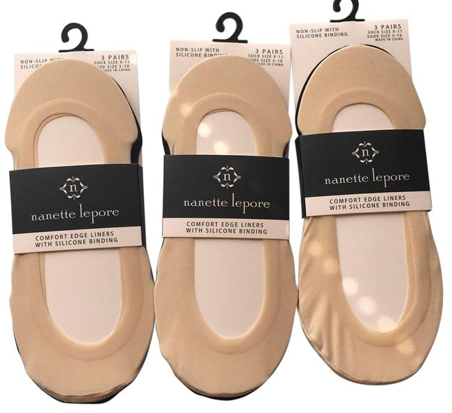 Item - Black and Beige Comfort Edge Liners with Silicone Binding Socks