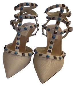 Valentino white and teal Sandals