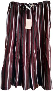 Tela Skirt Maroon black white