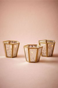 BHLDN Brass Framed Mercury Votive/Candle