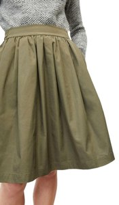 Comptoir des Cotonniers Theory Skater French Skirt Olive