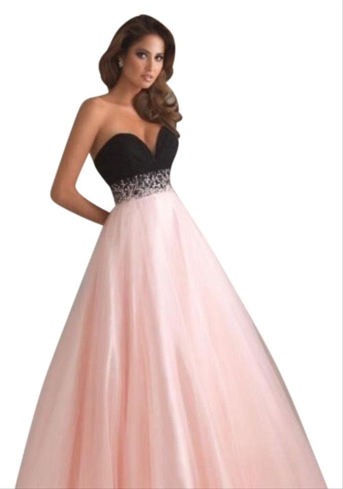 Madison James Pink And Black Gown Prom Long Formal Dress Size 0 Xs