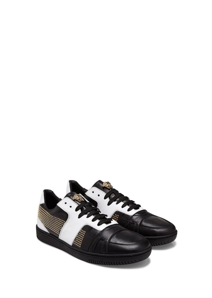 d1d60289758a Versace New Men s Studded Patch Low-top Sneakers Eu 47 Sneakers. Size  US 14  ...