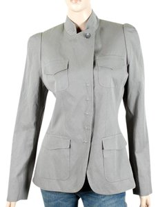 Pauw Amsterdam Structured Asymmetrical Cotton Evening Party Gray, Grey Blazer