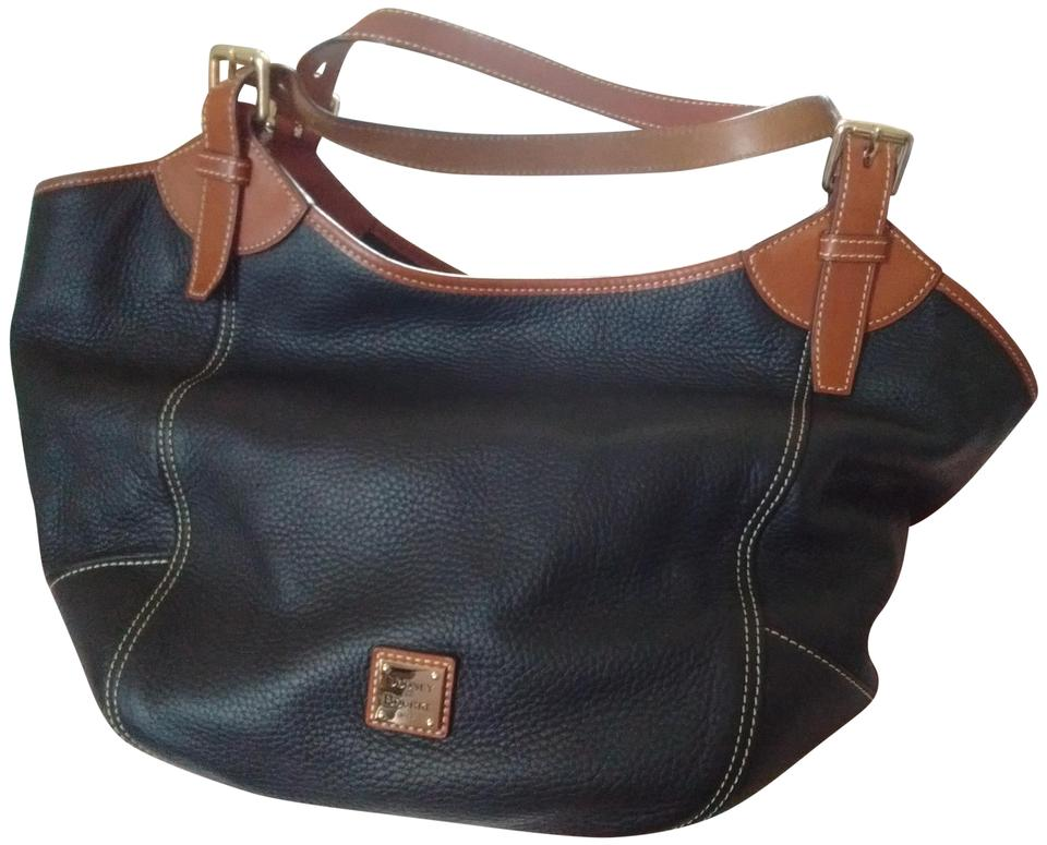 84f193d38e Dooney   Bourke And Pebble Medium Valerie Black Tan Leather Hobo Bag ...