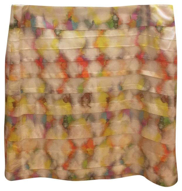 Item - White/Multi Color Fresco 256909 Skirt Size 8 (M, 29, 30)