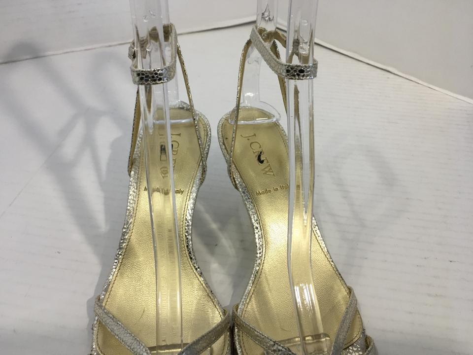 2a1cbf8f451e9 J.Crew Gold Embossed Leather Inc Heels Snake Pattern Leather Lining ...