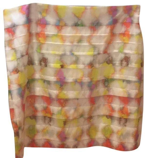 Item - White /Multi Color Fresco 256909 Skirt Size 10 (M, 31)