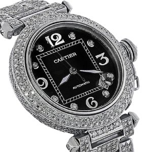 Cartier Cartier Pasha Automatic Midsize Diamond Watch Black Dial 2324