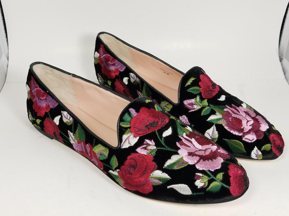 9ffc71cf3ff8 Kate Spade Black  Multi Swinton Velvet Embroidered Floral Loafer ...