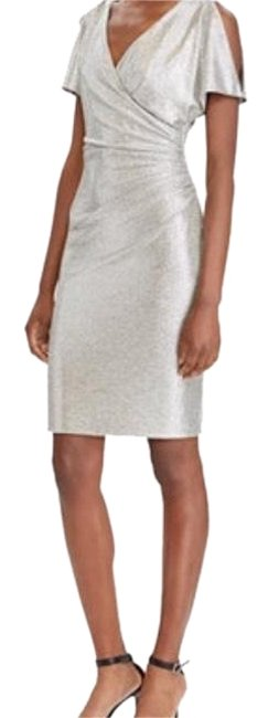 Item - Silver Mid-length Cocktail Dress Size 8 (M)