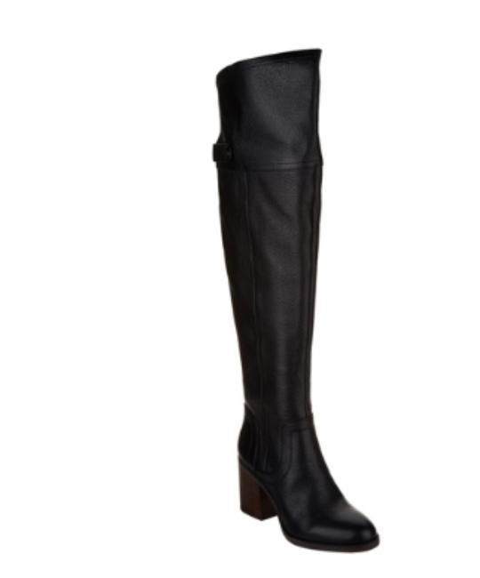 Franco Sarto Black Medium Calf Leather Over-the-knee Boots/Booties Size US 5 Regular (M, B) Franco Sarto Black Medium Calf Leather Over-the-knee Boots/Booties Size US 5 Regular (M, B) Image 1